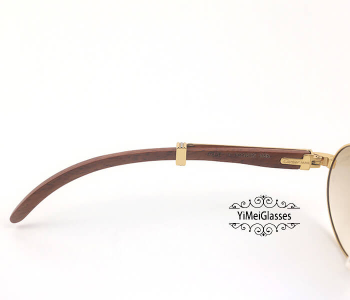 Cartier RoseWood Full Frame Classic Sunglasses CT7550178-55插图(3)