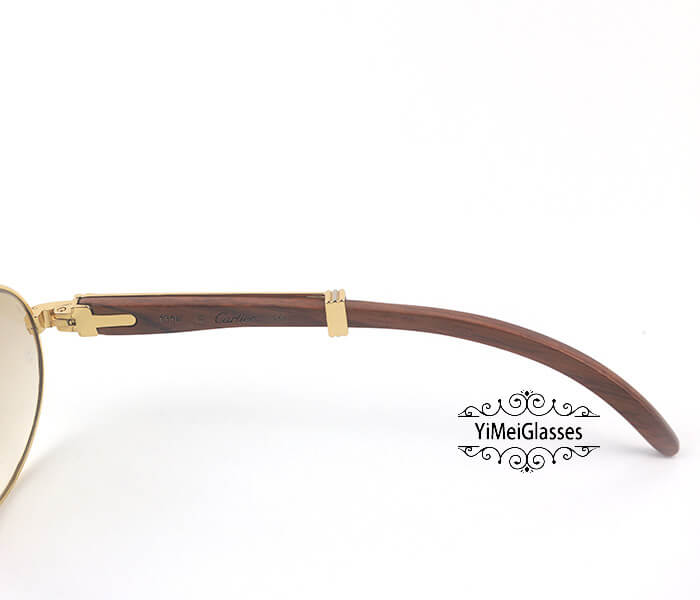 Cartier RoseWood Full Frame Classic Sunglasses CT7550178-55插图(4)
