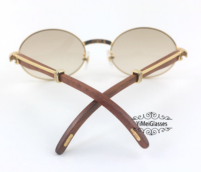 Cartier RoseWood Full Frame Classic Sunglasses CT7550178-55插图(5)