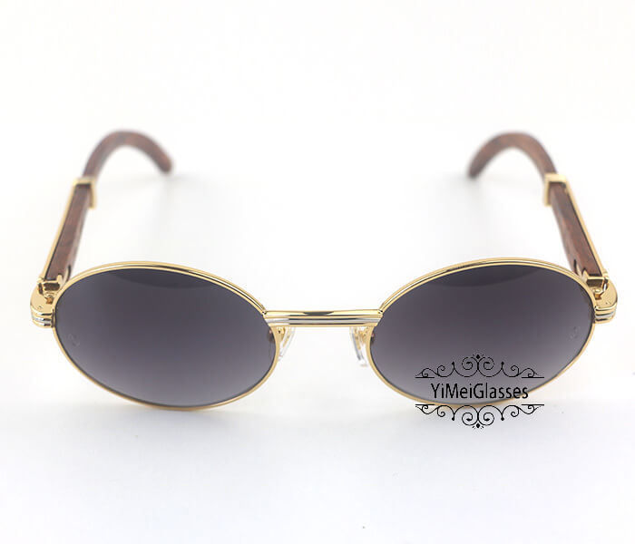Cartier RoseWood Full Frame Classic Sunglasses CT7550178-55插图(7)