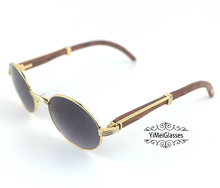 Cartier RoseWood Full Frame Classic Sunglasses CT7550178-55插图(8)
