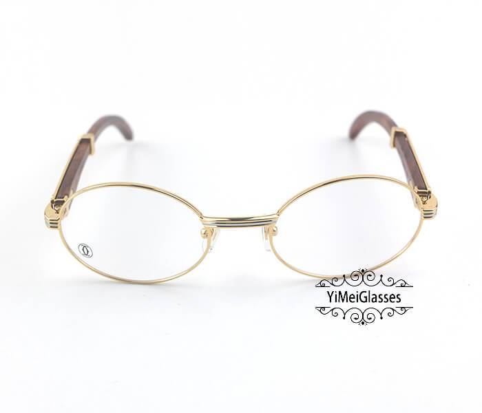 Cartier Wooden Full Frame Wooden Optical Glasses CT7550178-55插图