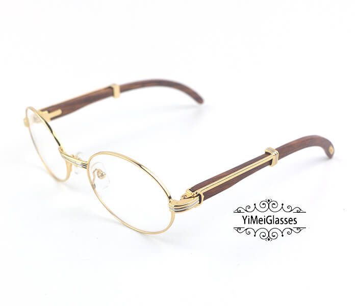 Cartier Wooden Full Frame Wooden Optical Glasses CT7550178-55插图(1)
