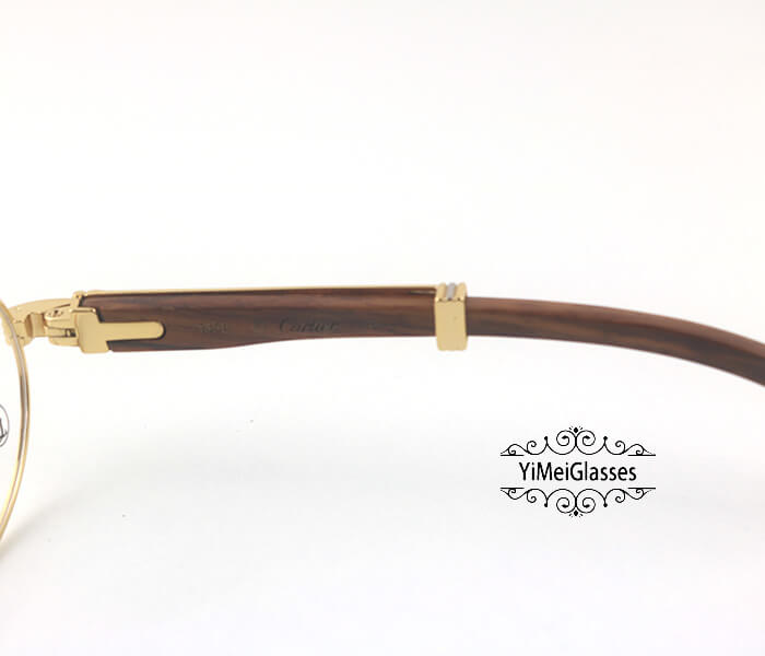 Cartier Wooden Full Frame Wooden Optical Glasses CT7550178-55插图(4)