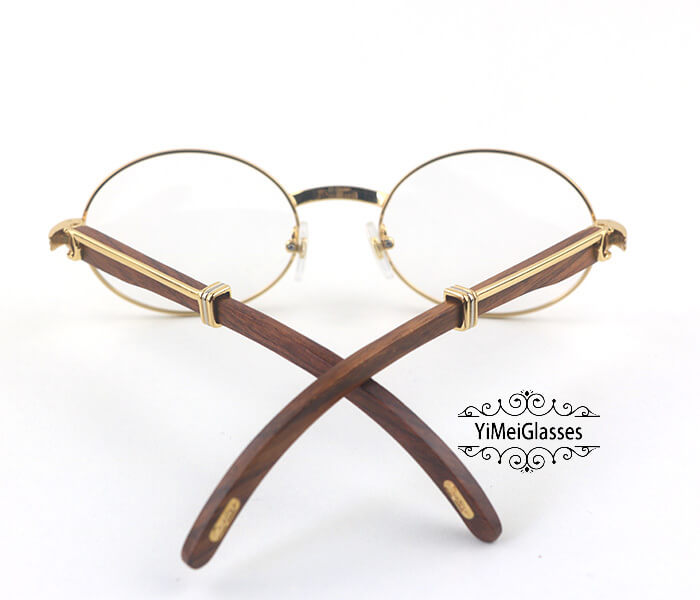 Cartier Wooden Full Frame Wooden Optical Glasses CT7550178-55插图(5)