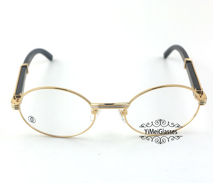 Cartier Buffalo Horn Full Frame Classic Eyeglasses CT7550178-55插图