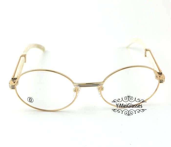 Cartier Buffalo Horn Full Frame Classic Eyeglasses CT7550178-55插图10