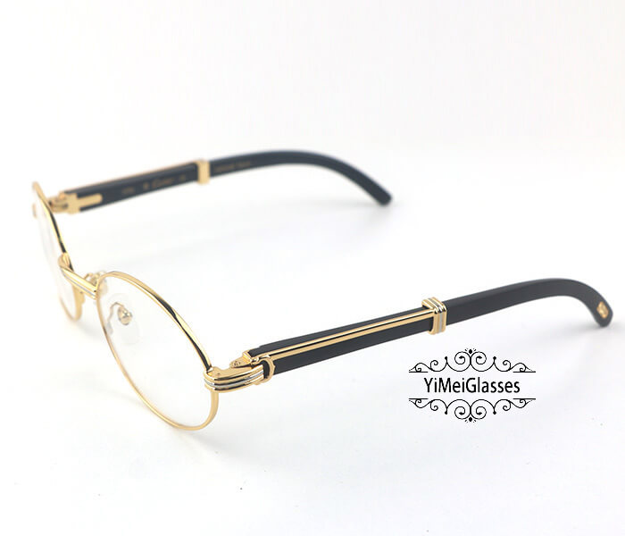 Cartier Buffalo Horn Full Frame Classic Eyeglasses CT7550178-55插图1