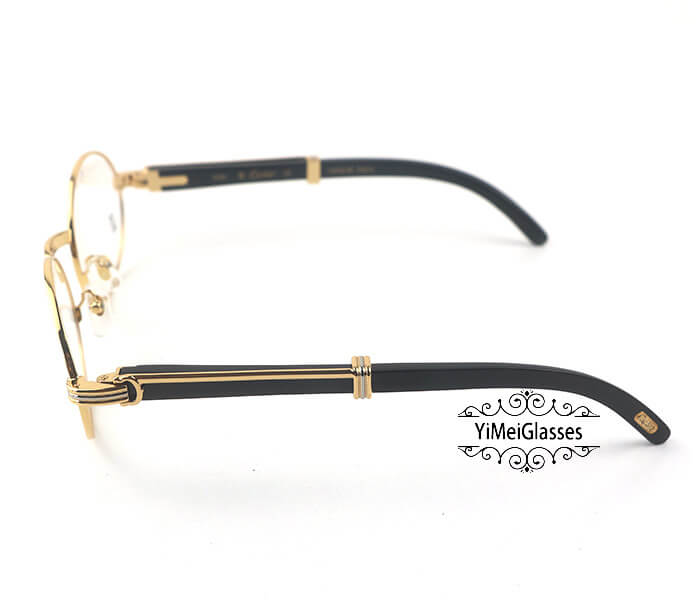 Cartier Buffalo Horn Full Frame Classic Eyeglasses CT7550178-55插图2