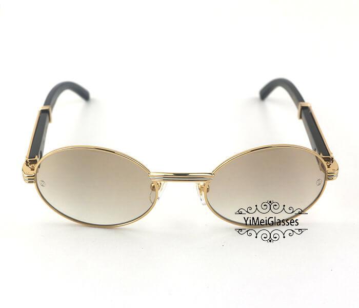 Cartier Buffalo Horn Full Frame Classic Sunglasses CT7550178-55插图