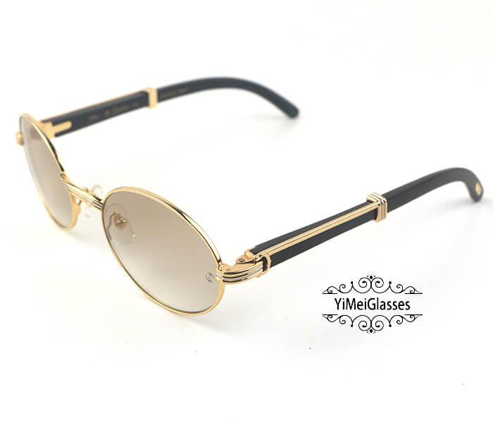 Cartier Buffalo Horn Full Frame Classic Sunglasses CT7550178-55插图(1)