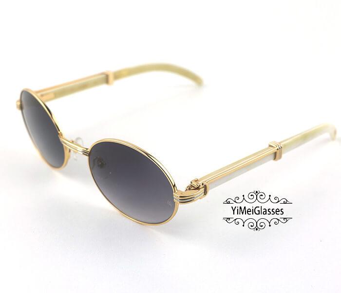 Cartier Buffalo Horn Full Frame Classic Sunglasses CT7550178-55插图(20)