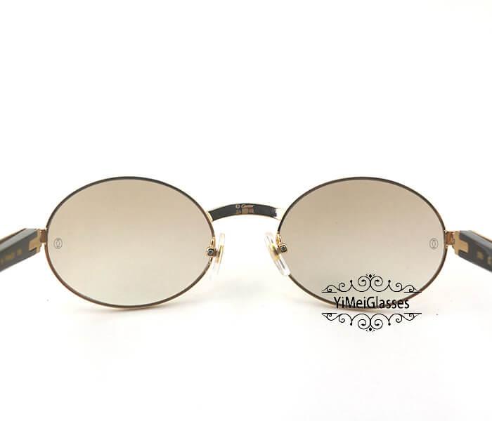 Cartier Buffalo Horn Full Frame Classic Sunglasses CT7550178-55插图(6)