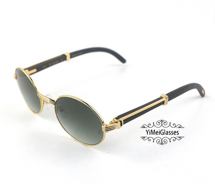 Cartier Buffalo Horn Full Frame Classic Sunglasses CT7550178-55插图(8)