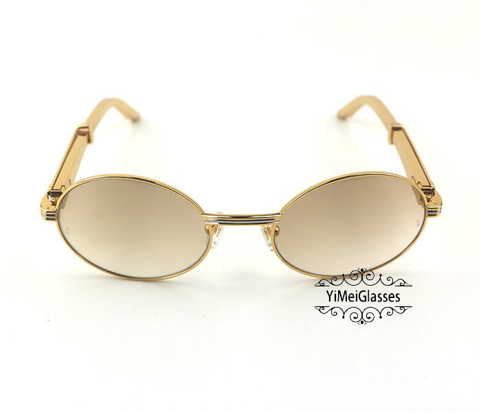 Cartier Stainless Steel Full Frame Classic Sunglasses CT7550178-55插图
