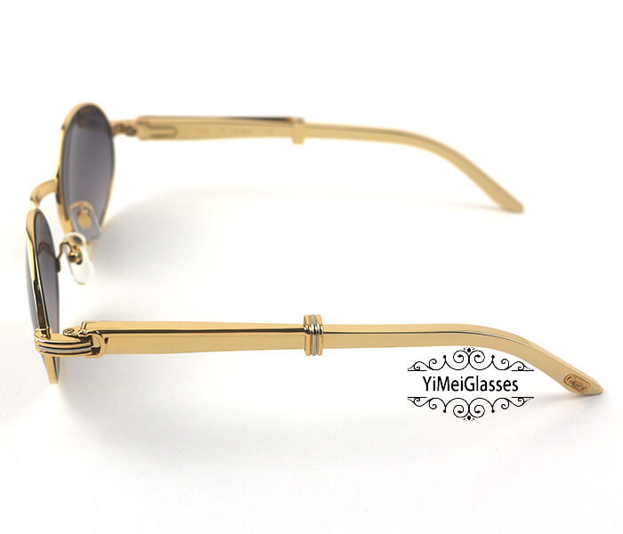Cartier Stainless Steel Full Frame Classic Sunglasses CT7550178-55插图(9)
