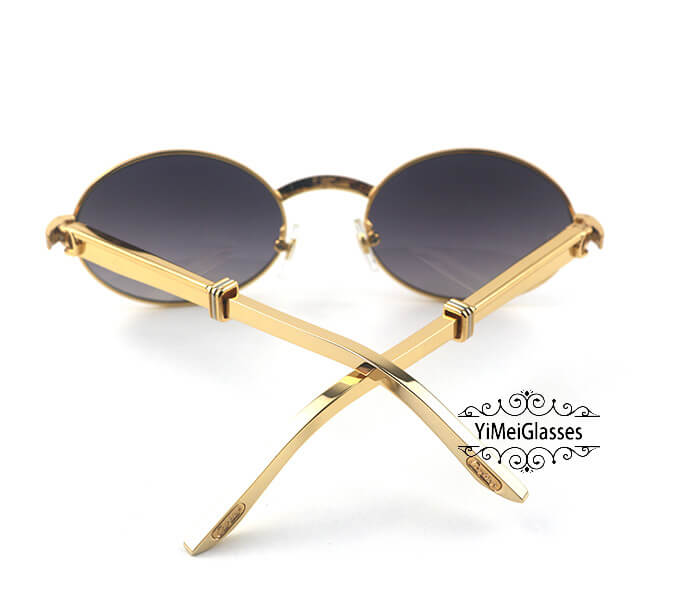 Cartier Stainless Steel Full Frame Classic Sunglasses CT7550178-55插图(10)