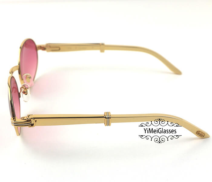 Cartier Stainless Steel Full Frame Classic Sunglasses CT7550178-55插图(13)