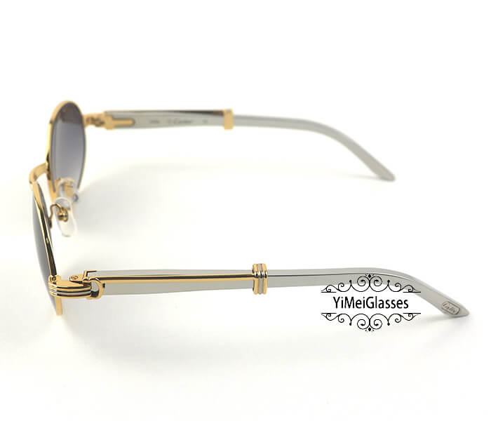 Cartier Stainless Steel Full Frame Classic Sunglasses CT7550178-55插图(17)