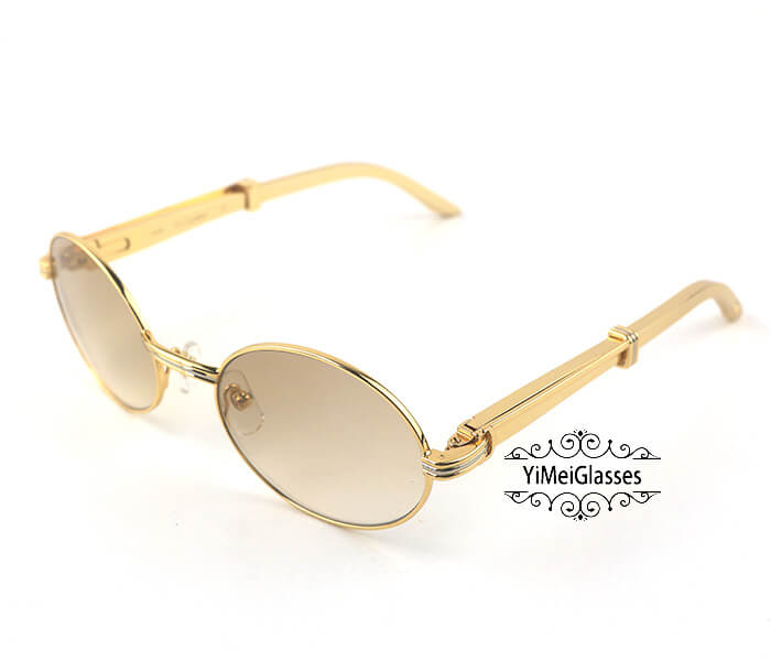 Cartier Stainless Steel Full Frame Classic Sunglasses CT7550178-55插图(1)