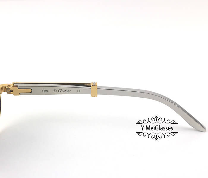 Cartier Stainless Steel Full Frame Classic Sunglasses CT7550178-55插图(19)