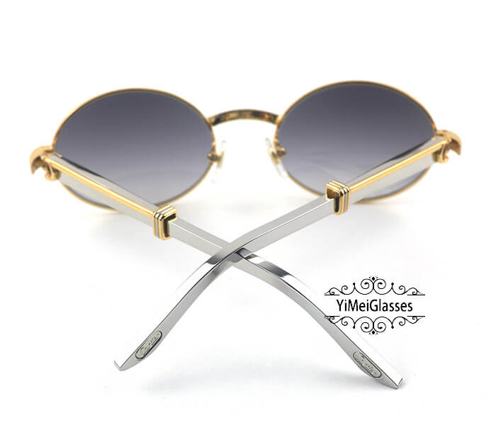 Cartier Stainless Steel Full Frame Classic Sunglasses CT7550178-55插图(20)