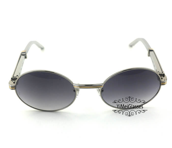 Cartier Stainless Steel Full Frame Classic Sunglasses CT7550178-55插图(21)