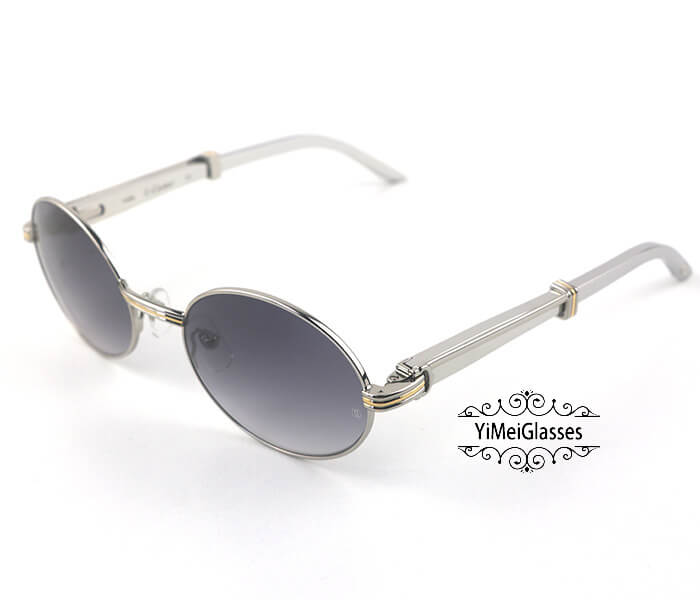 Cartier Stainless Steel Full Frame Classic Sunglasses CT7550178-55插图(22)