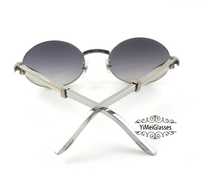 Cartier Stainless Steel Full Frame Classic Sunglasses CT7550178-55插图(24)