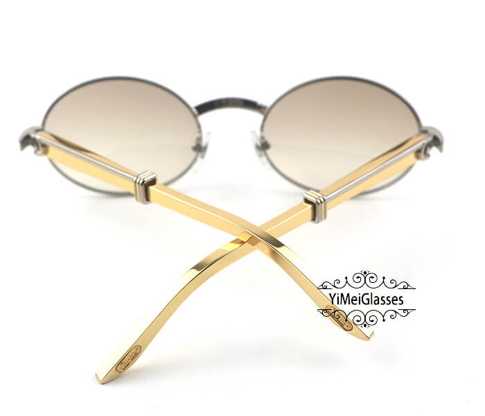 Cartier Stainless Steel Full Frame Classic Sunglasses CT7550178-55插图(28)