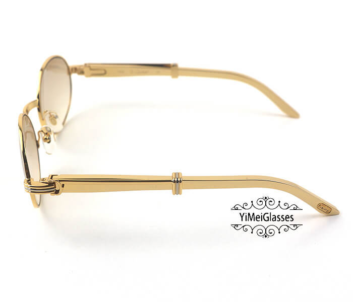 Cartier Stainless Steel Full Frame Classic Sunglasses CT7550178-55插图(2)