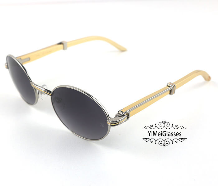 Cartier Stainless Steel Full Frame Classic Sunglasses CT7550178-55插图(30)