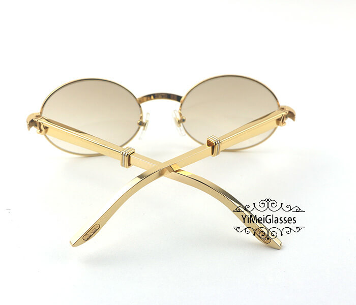 Cartier Stainless Steel Full Frame Classic Sunglasses CT7550178-55插图(5)