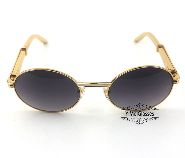 Cartier Stainless Steel Full Frame Classic Sunglasses CT7550178-55插图(7)