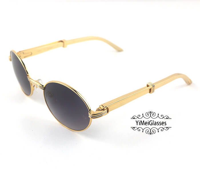 Cartier Stainless Steel Full Frame Classic Sunglasses CT7550178-55插图(8)