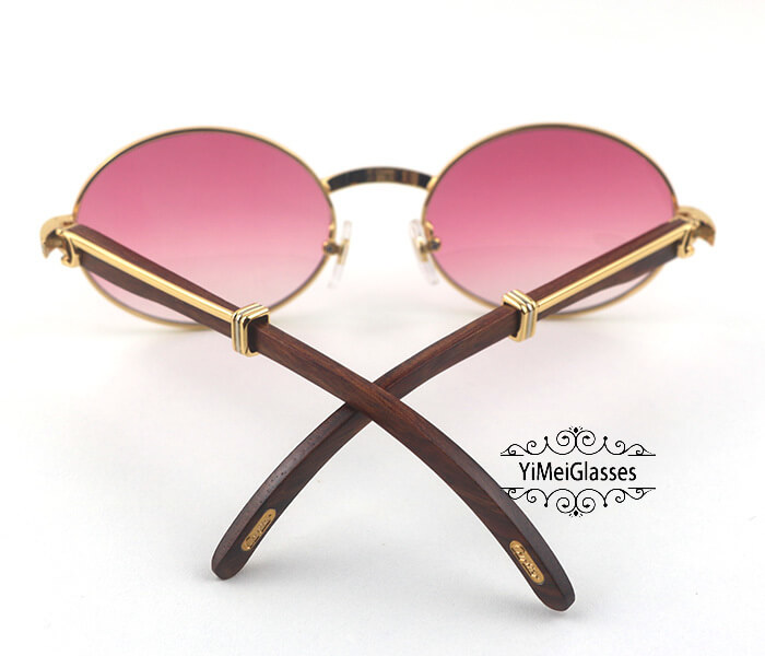 Cartier RoseWood Full Frame Classic Sunglasses CT7550178-57插图(9)