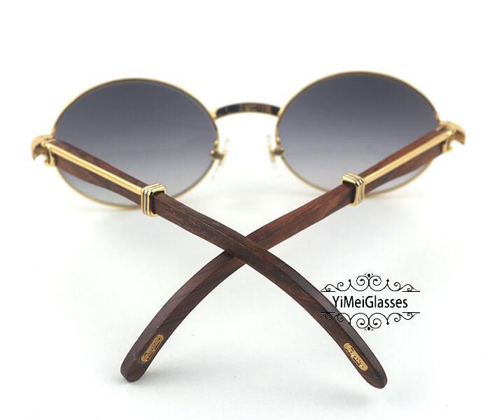 Cartier RoseWood Full Frame Classic Sunglasses CT7550178-57插图(12)