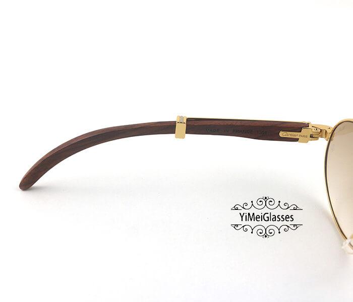 Cartier RoseWood Full Frame Classic Sunglasses CT7550178-57插图(3)