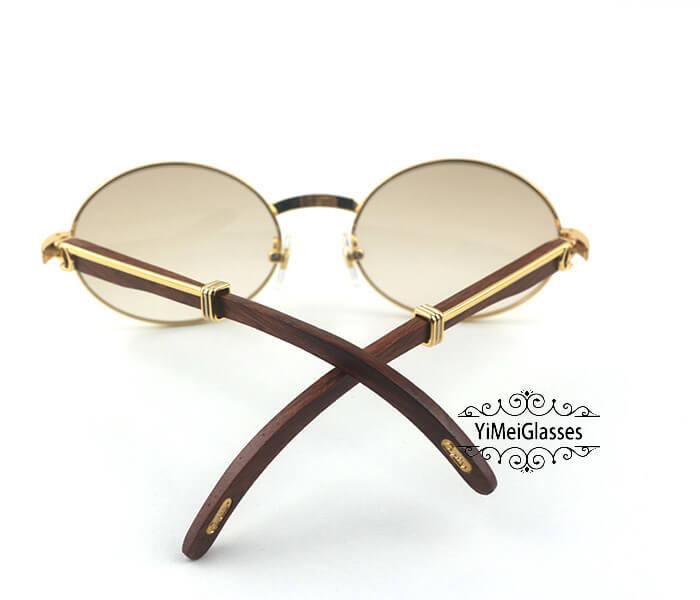 Cartier RoseWood Full Frame Classic Sunglasses CT7550178-57插图(6)