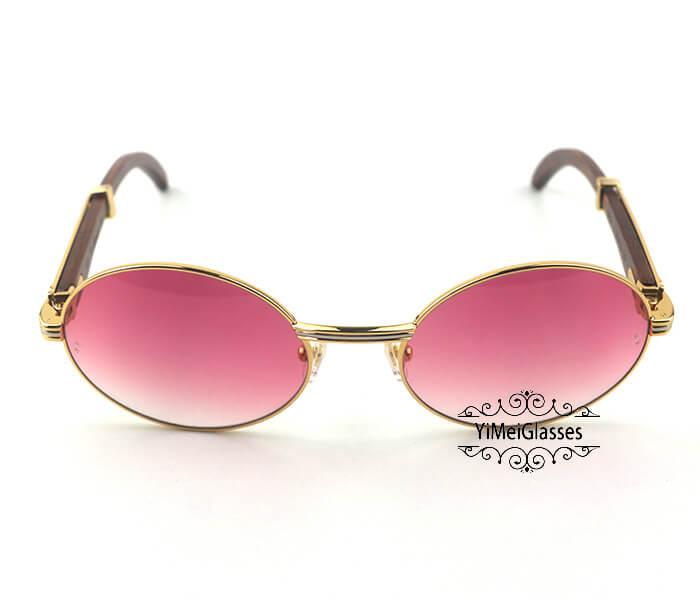 Cartier RoseWood Full Frame Classic Sunglasses CT7550178-57插图(7)