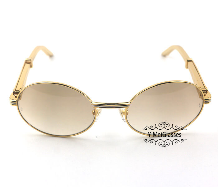 Cartier Stainless Steel Full Frame Classic Sunglasses CT7550178-57插图