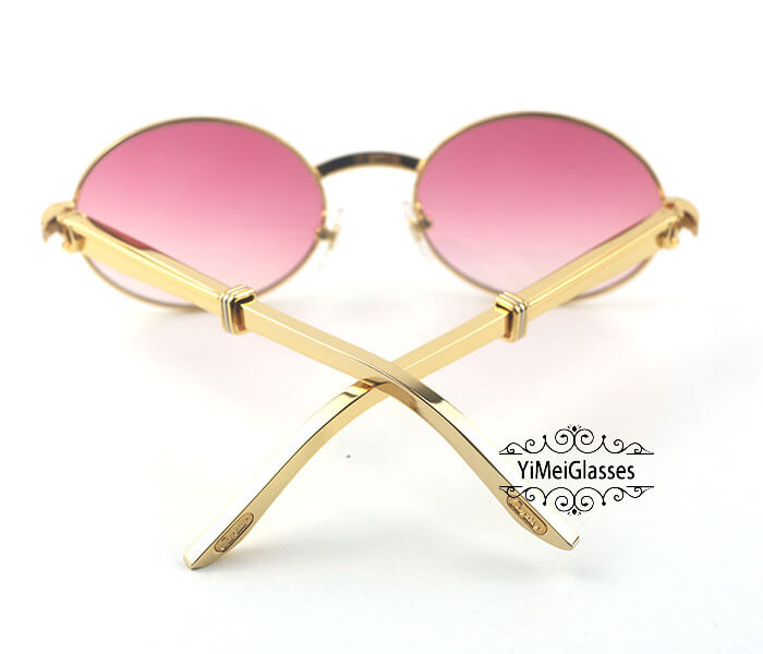 Cartier Stainless Steel Full Frame Classic Sunglasses CT7550178-57插图9
