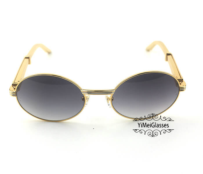 Cartier Stainless Steel Full Frame Classic Sunglasses CT7550178-57插图(10)