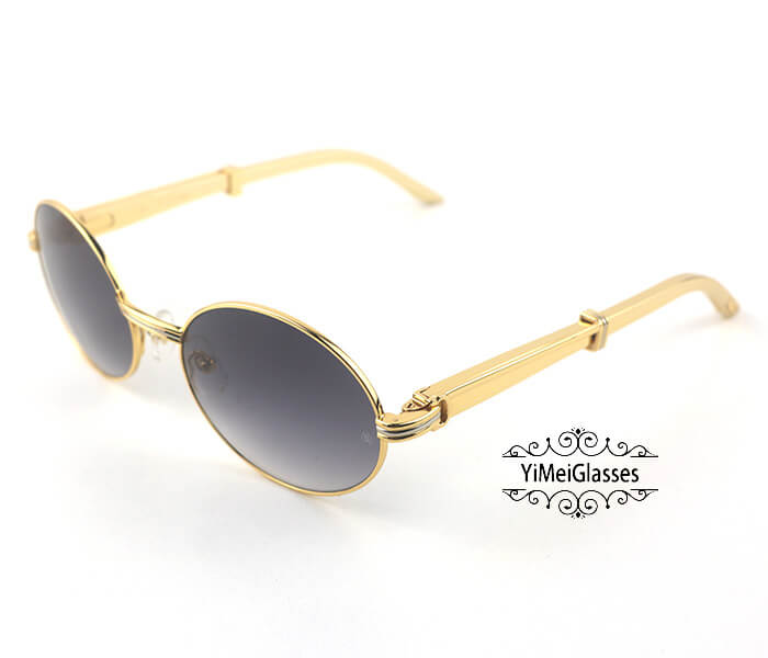 Cartier Stainless Steel Full Frame Classic Sunglasses CT7550178-57插图(11)