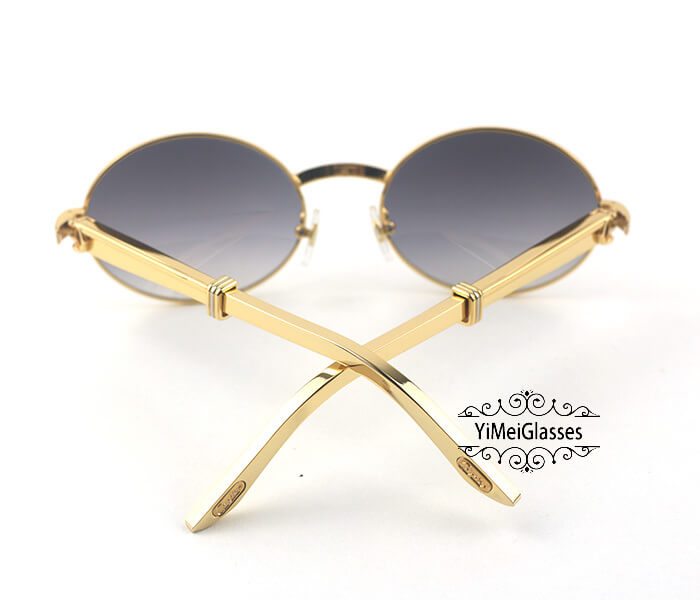 Cartier Stainless Steel Full Frame Classic Sunglasses CT7550178-57插图(12)