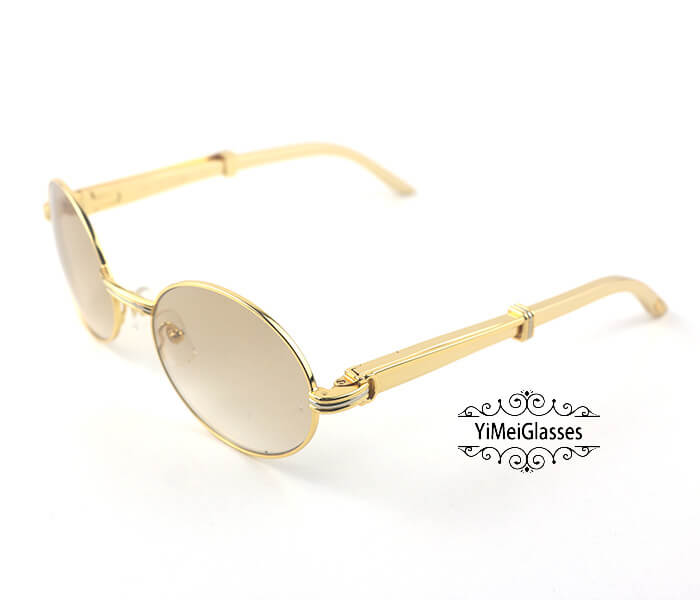 Cartier Stainless Steel Full Frame Classic Sunglasses CT7550178-57插图(1)