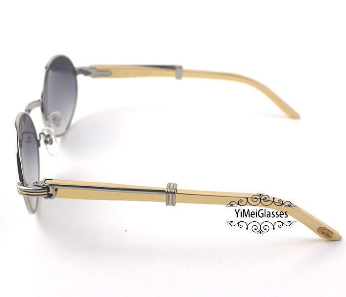 Cartier Stainless Steel Full Frame Classic Sunglasses CT7550178-57插图15