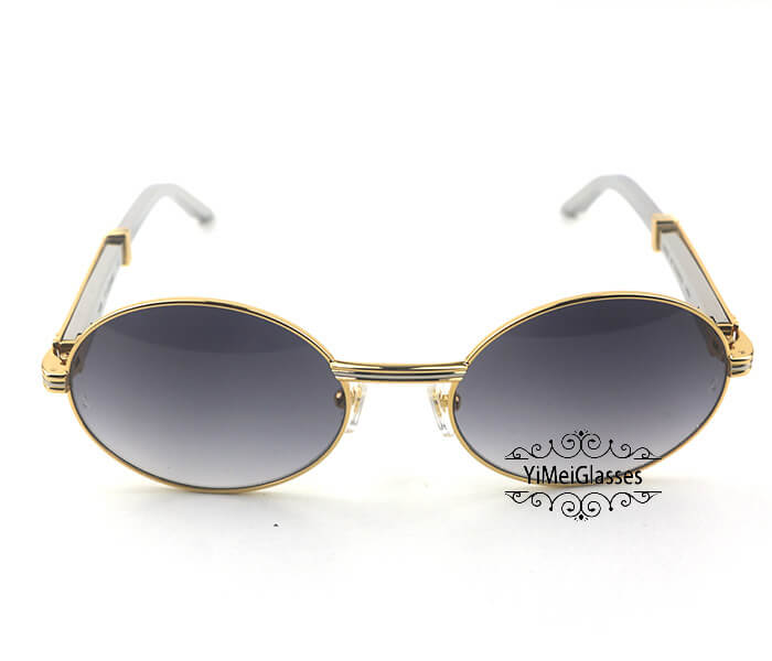Cartier Stainless Steel Full Frame Classic Sunglasses CT7550178-57插图17