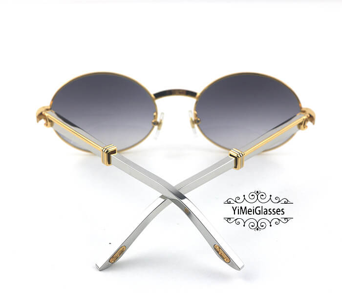 Cartier Stainless Steel Full Frame Classic Sunglasses CT7550178-57插图20