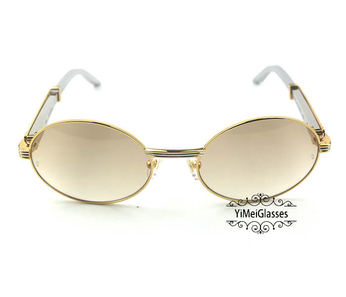 Cartier Stainless Steel Full Frame Classic Sunglasses CT7550178-57插图21